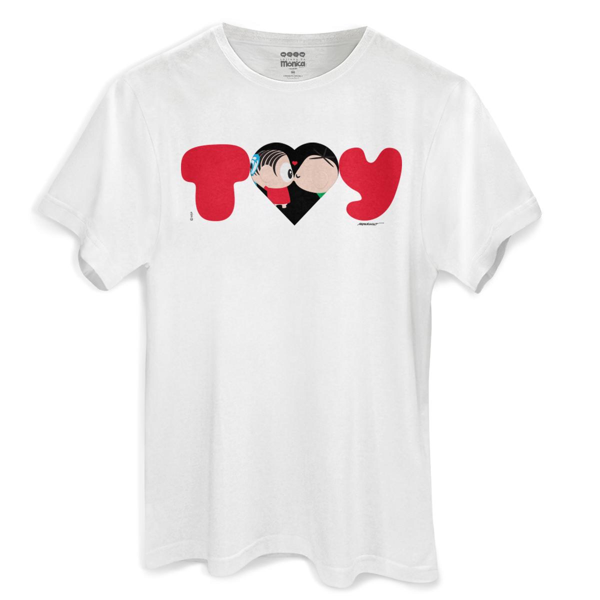 Camiseta Masculina Turma da Mônica Toy Love