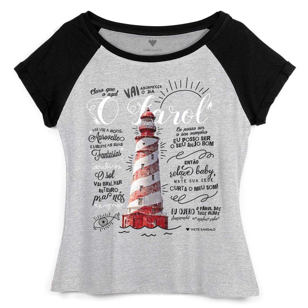 Camiseta Raglan Feminina Ivete Sangalo O Farol