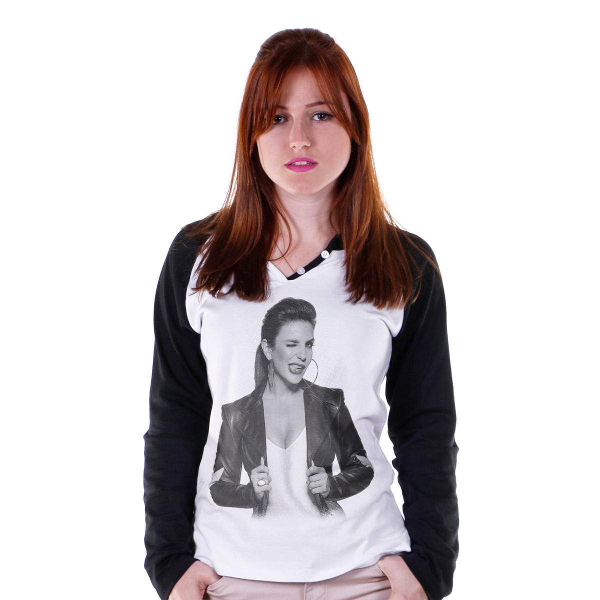 Camiseta Raglan Feminina Ivete Sangalo Piscadela