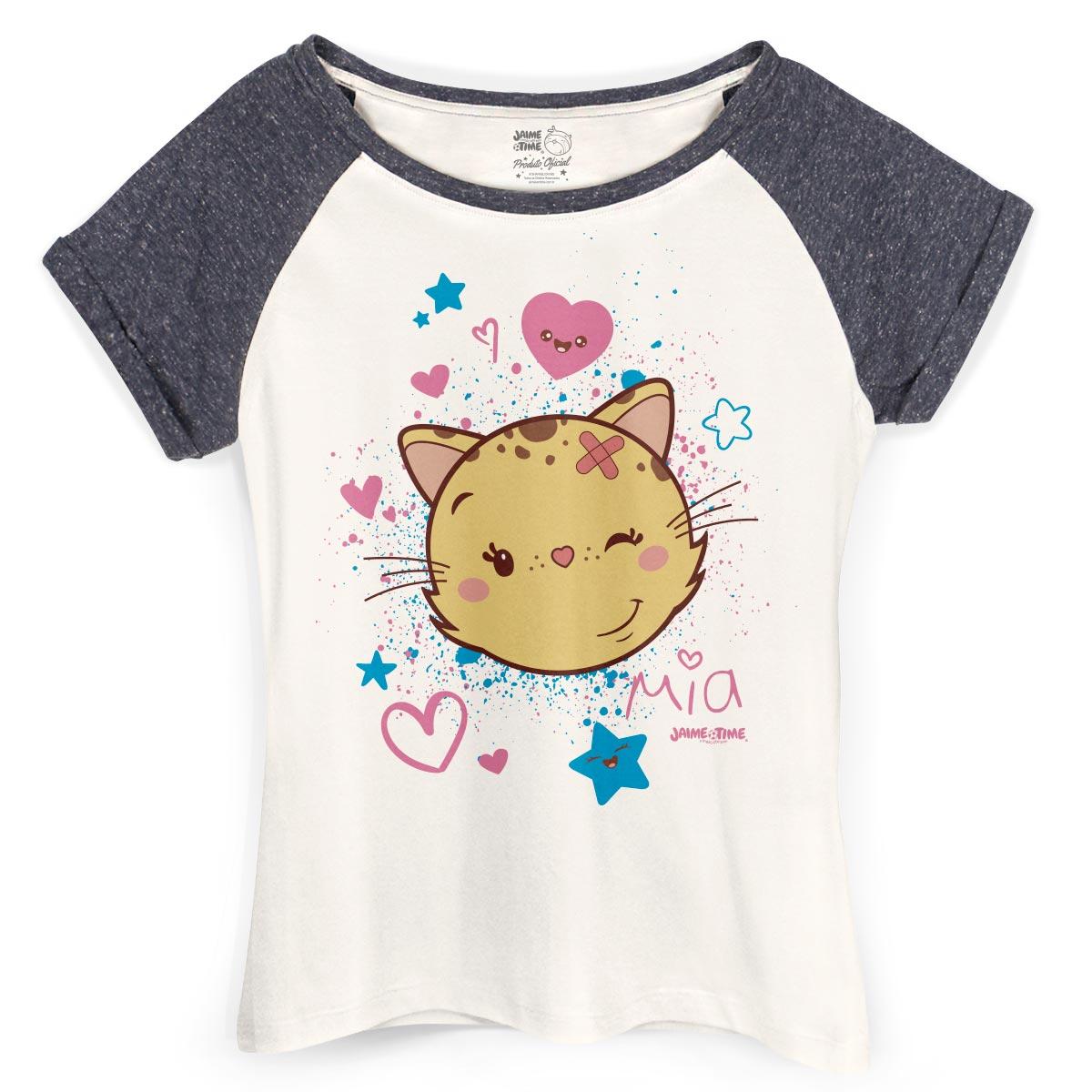 Camiseta Raglan Feminina Jaime Mia