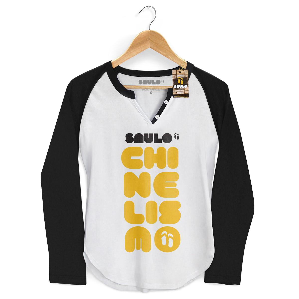 Camiseta Raglan Feminina Saulo Chinelismo