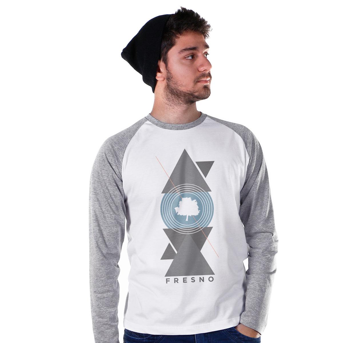Camiseta Raglan Masculina Fresno Geometric