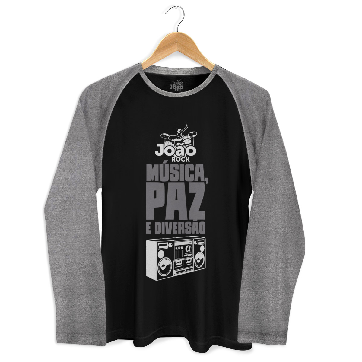 Camiseta Raglan Masculina João Rock Música