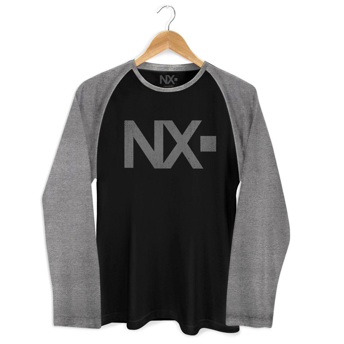 Camiseta Raglan Masculina NXZero Logo Negative