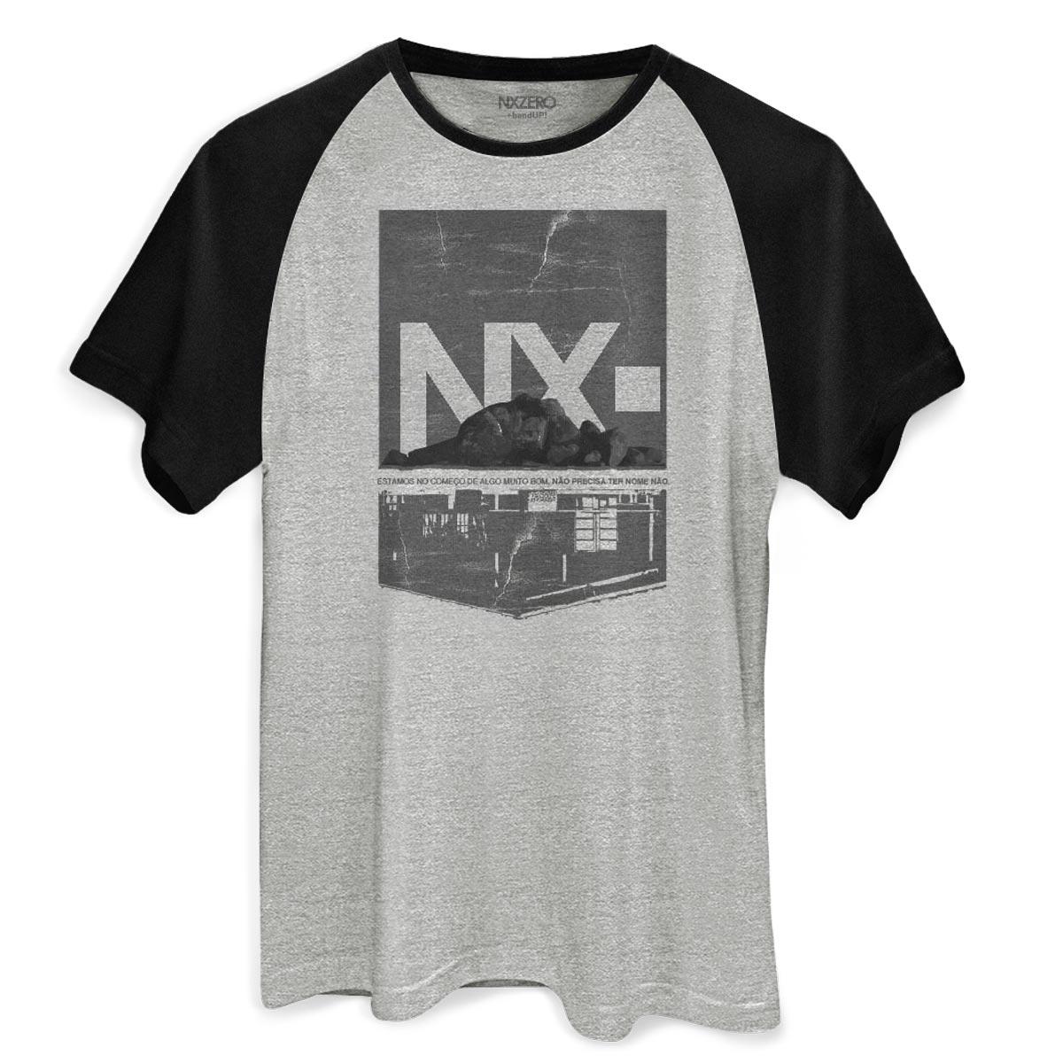 Camiseta Raglan Masculina NXZero Sem Nome