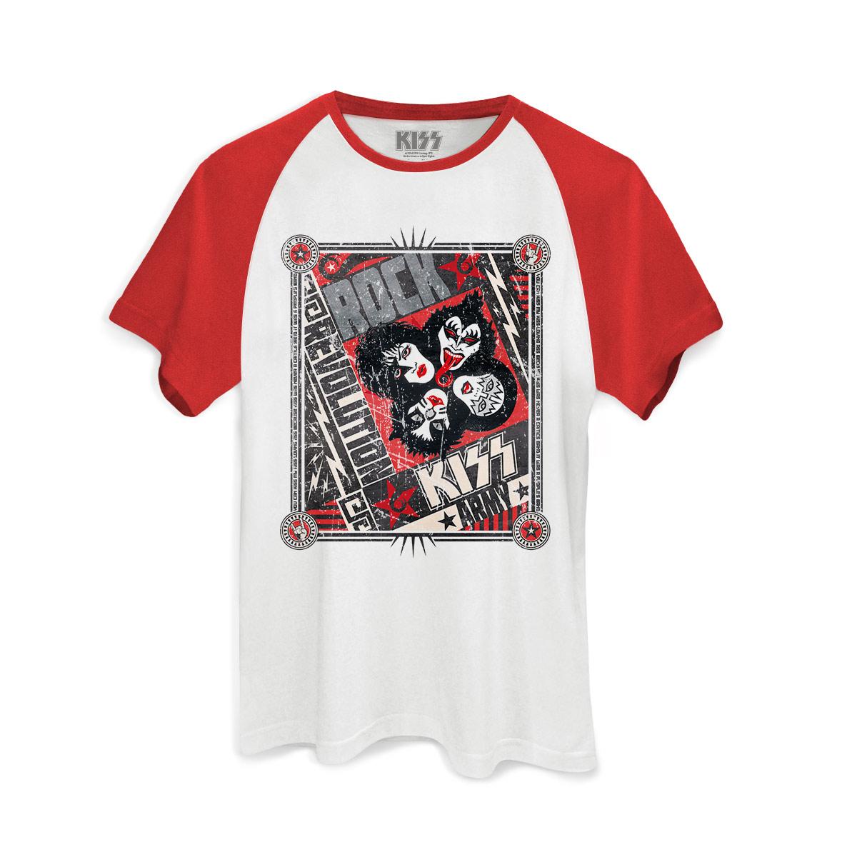 Camiseta Raglan Premium Masculina Kiss Iconic