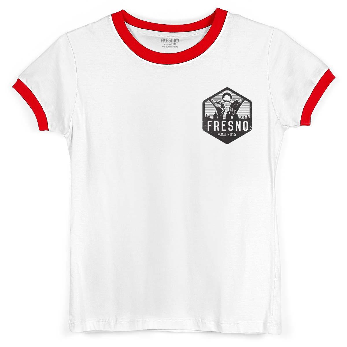 Camiseta Ringer Feminina Fresno True Crew