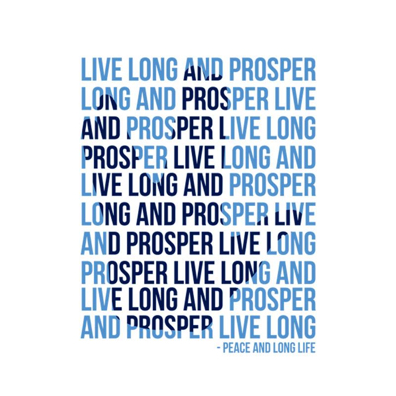 Camiseta Star Trek Live Long And Prosper