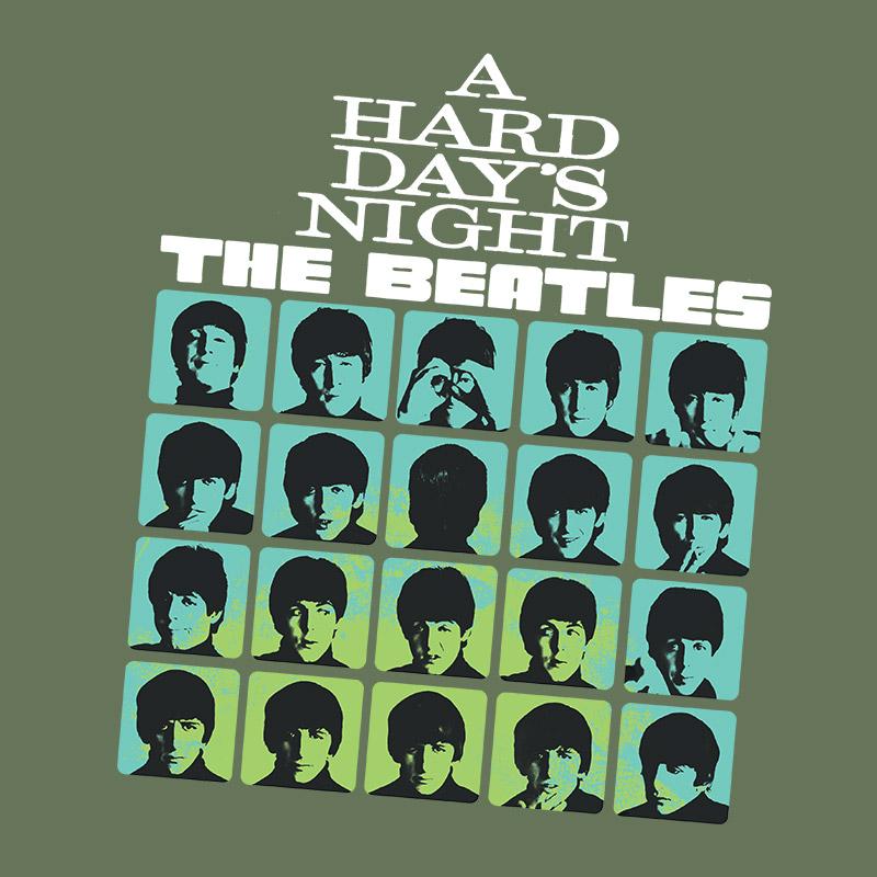 Camiseta Unissex The Beatles Hard Day´s Night Militar