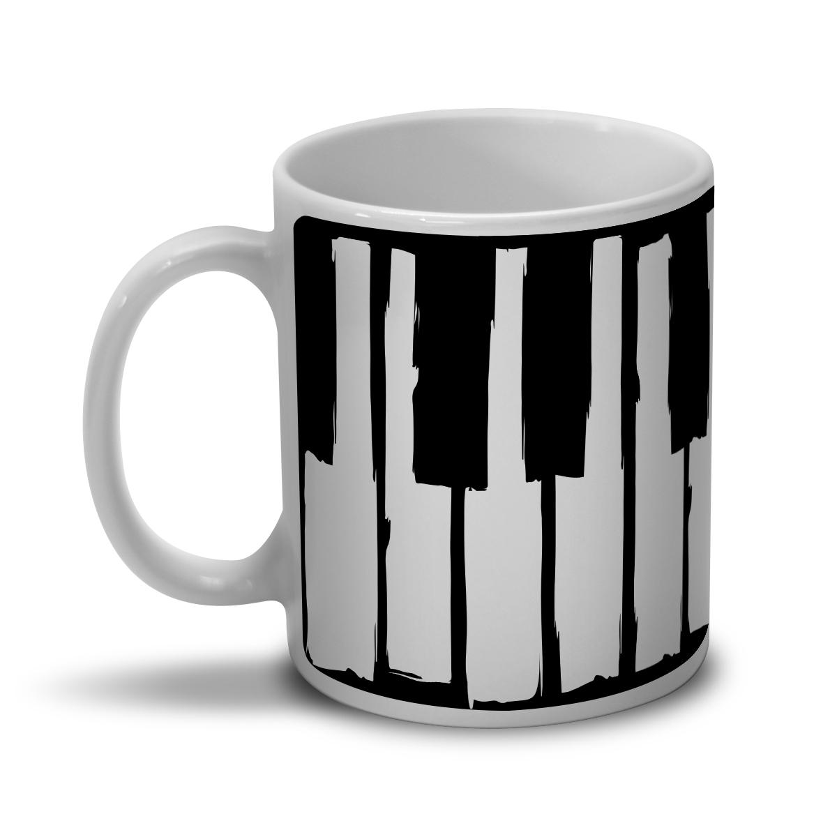 Caneca Dudu Borges Musical Keyboard