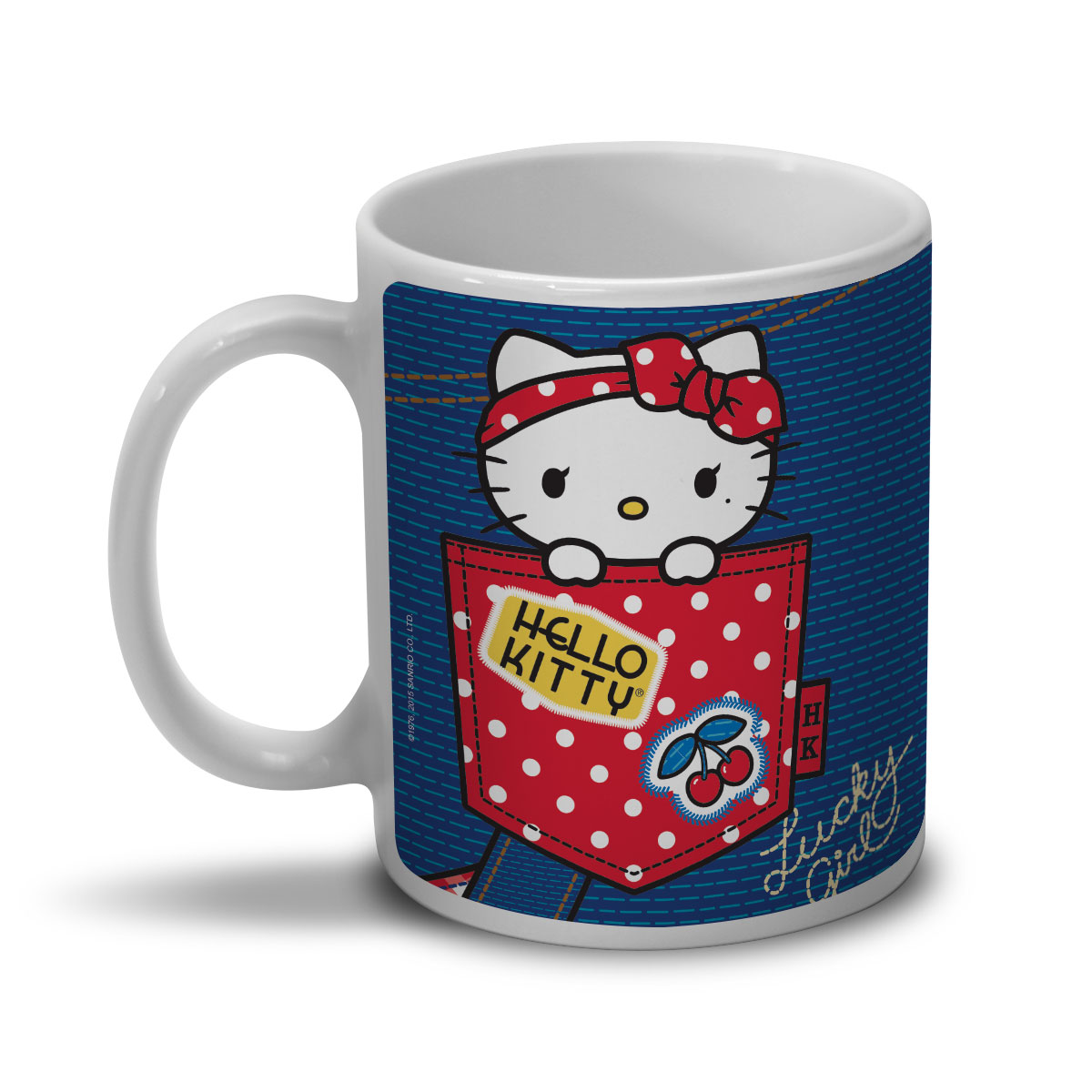 Caneca Hello Kitty Retro Denim