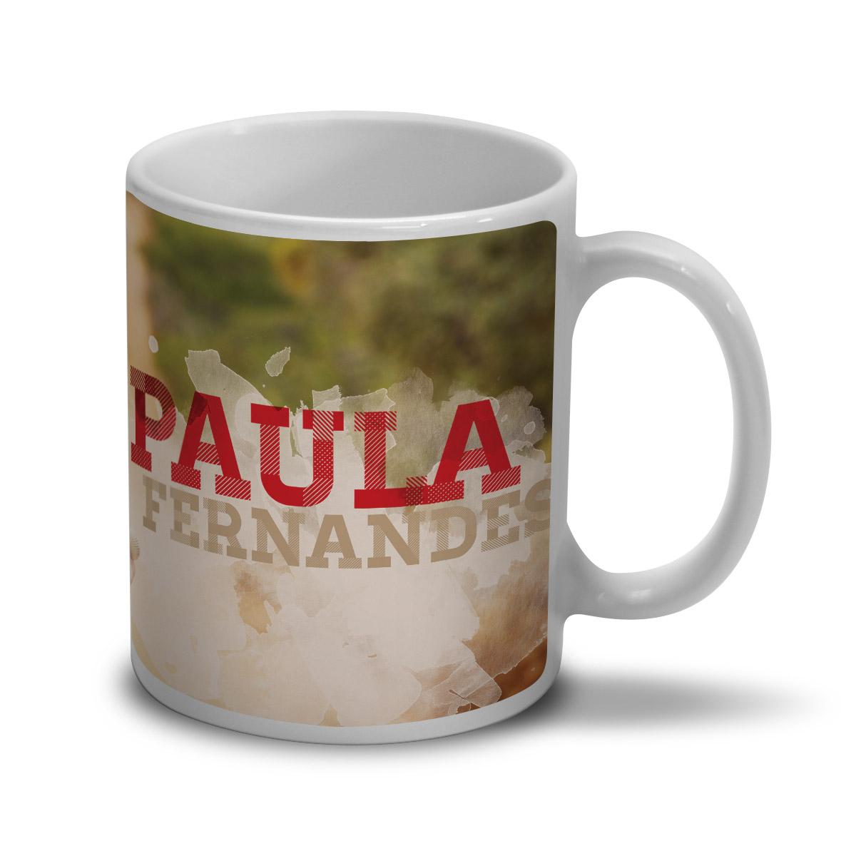 Caneca Paula Fernandes Foto Colors