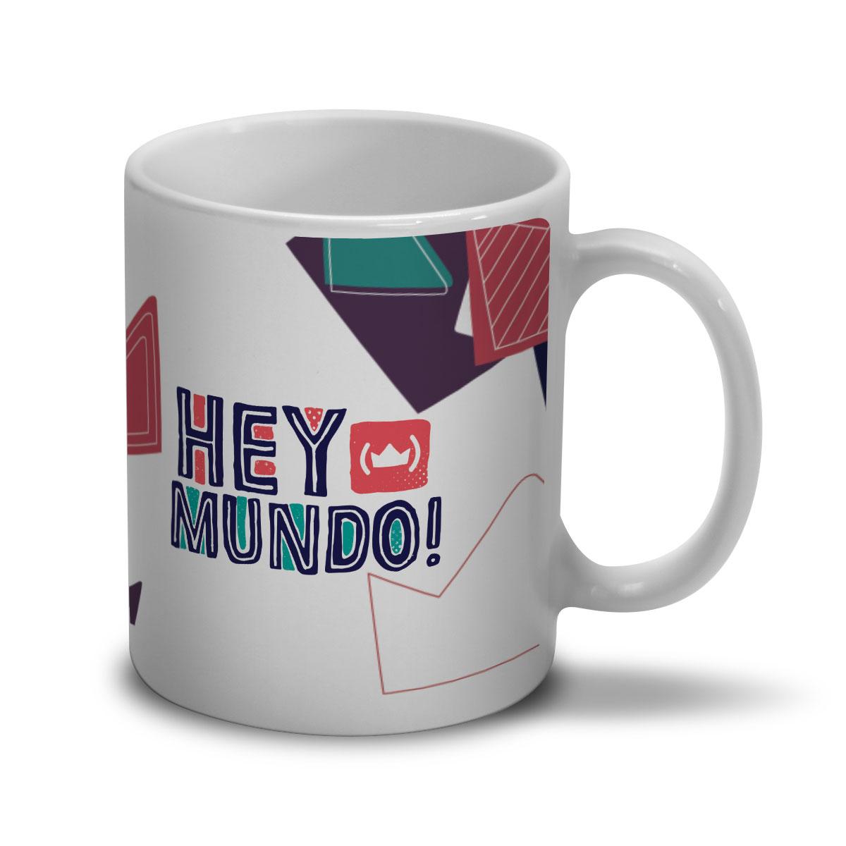 Caneca Thiaguinho Hey Mundo! Logo