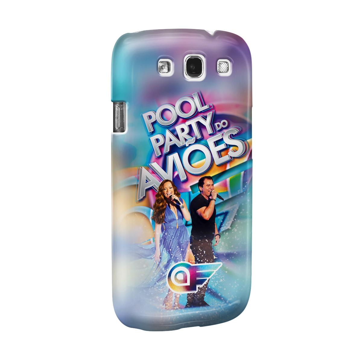 Capa de Celular Samsung Galaxy S3 Aviões do Forró Capa Pool Party