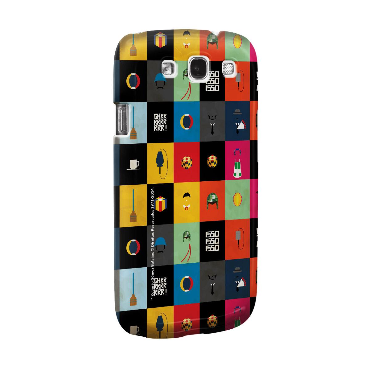 Capa de Celular Samsung Galaxy S3 Chaves Ícones Turma do Chaves Vintage