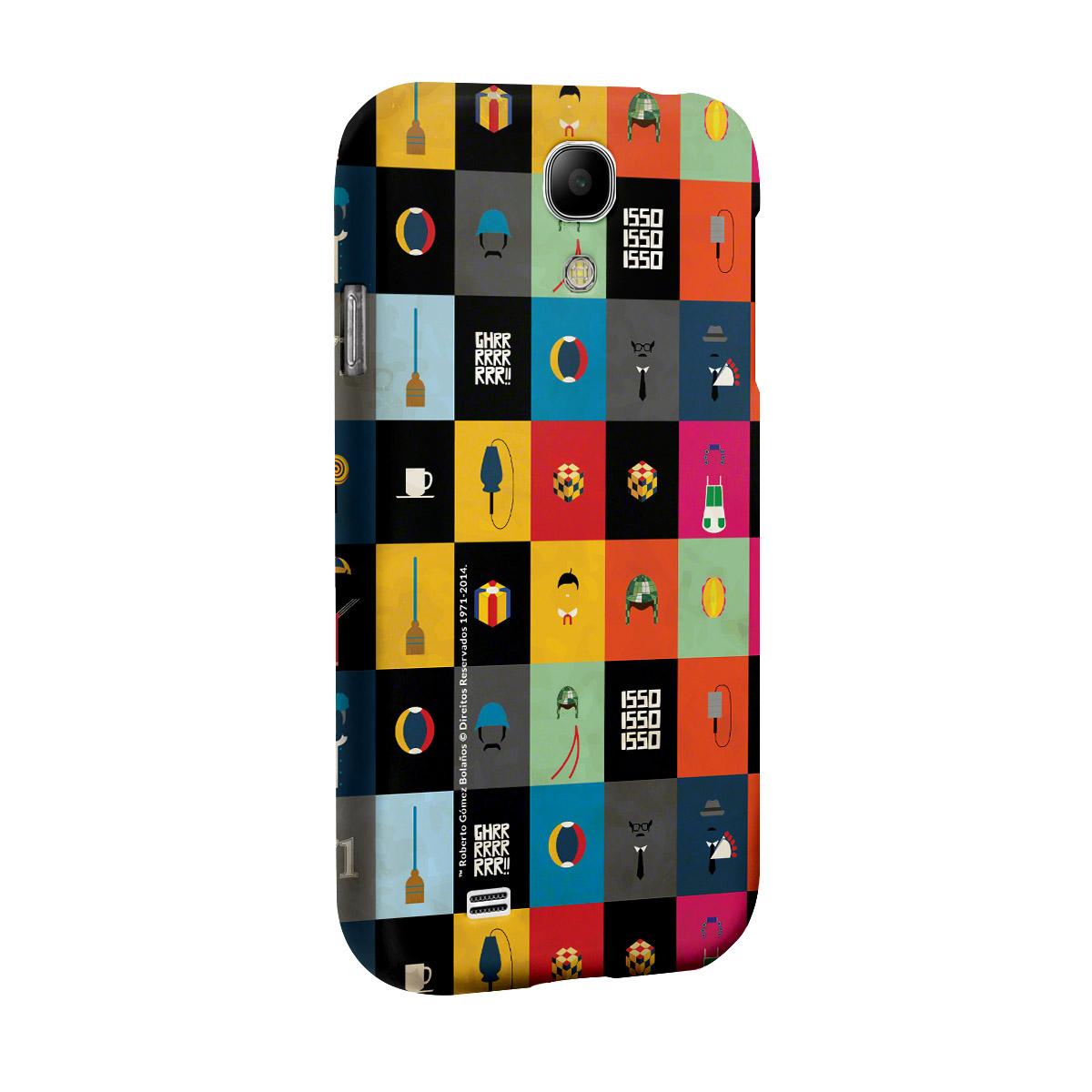Capa de Celular Samsung Galaxy S4 Chaves Ícones Turma do Chaves Vintage