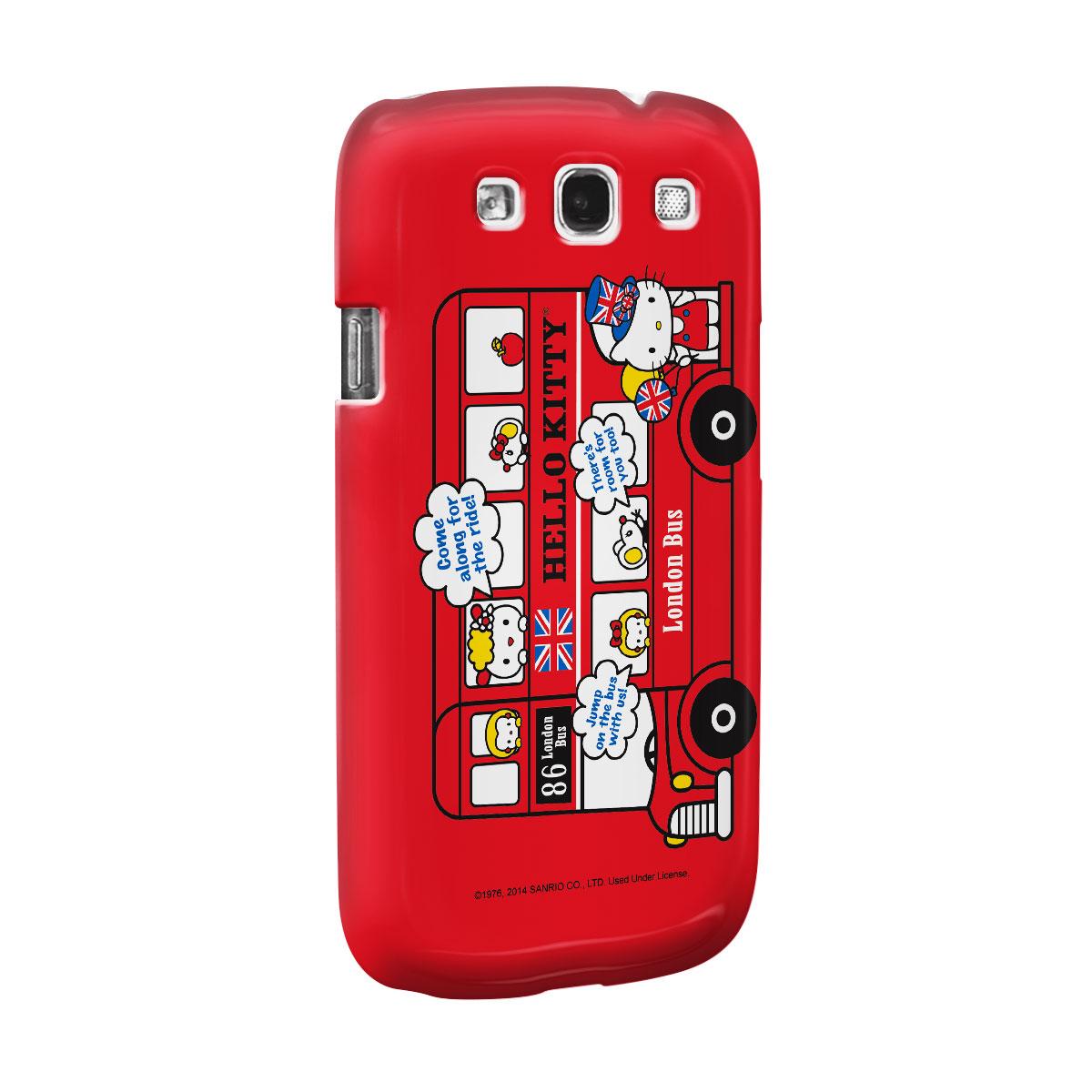 Capa de Celular Samsung S3 Hello Kitty London Bus 2