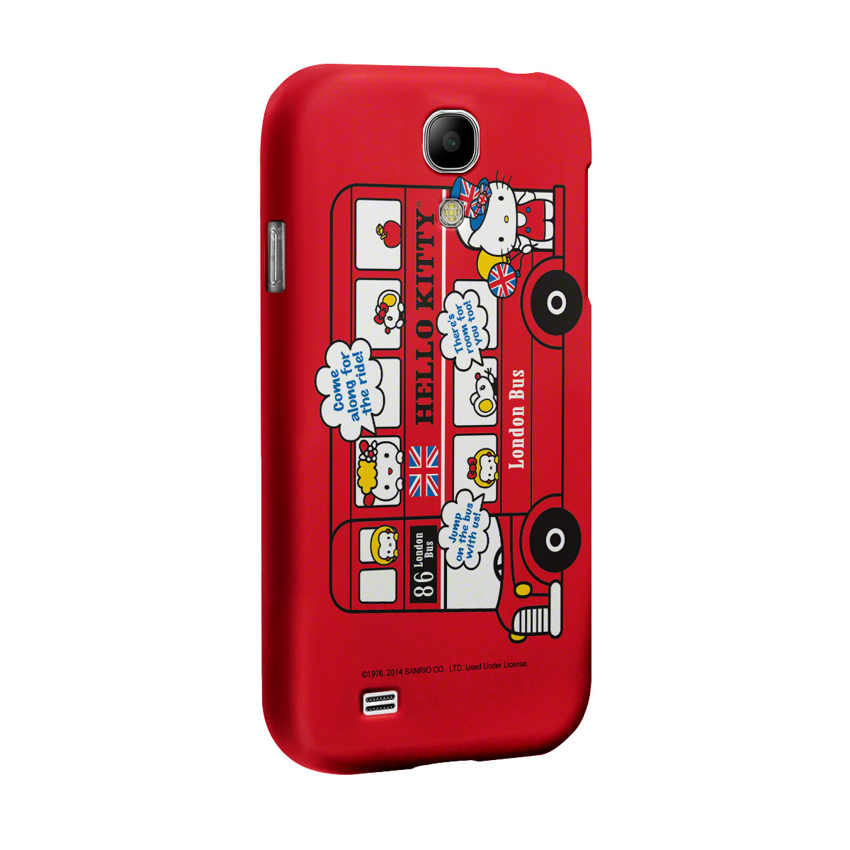 Capa de Celular Samsung S4 Hello Kitty London Bus 2