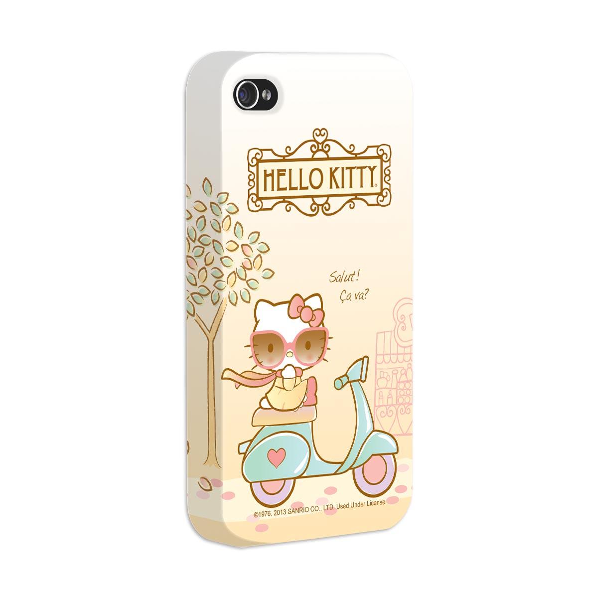 Capa de iPhone 4/4S Hello Kitty Salut! Ça Va?