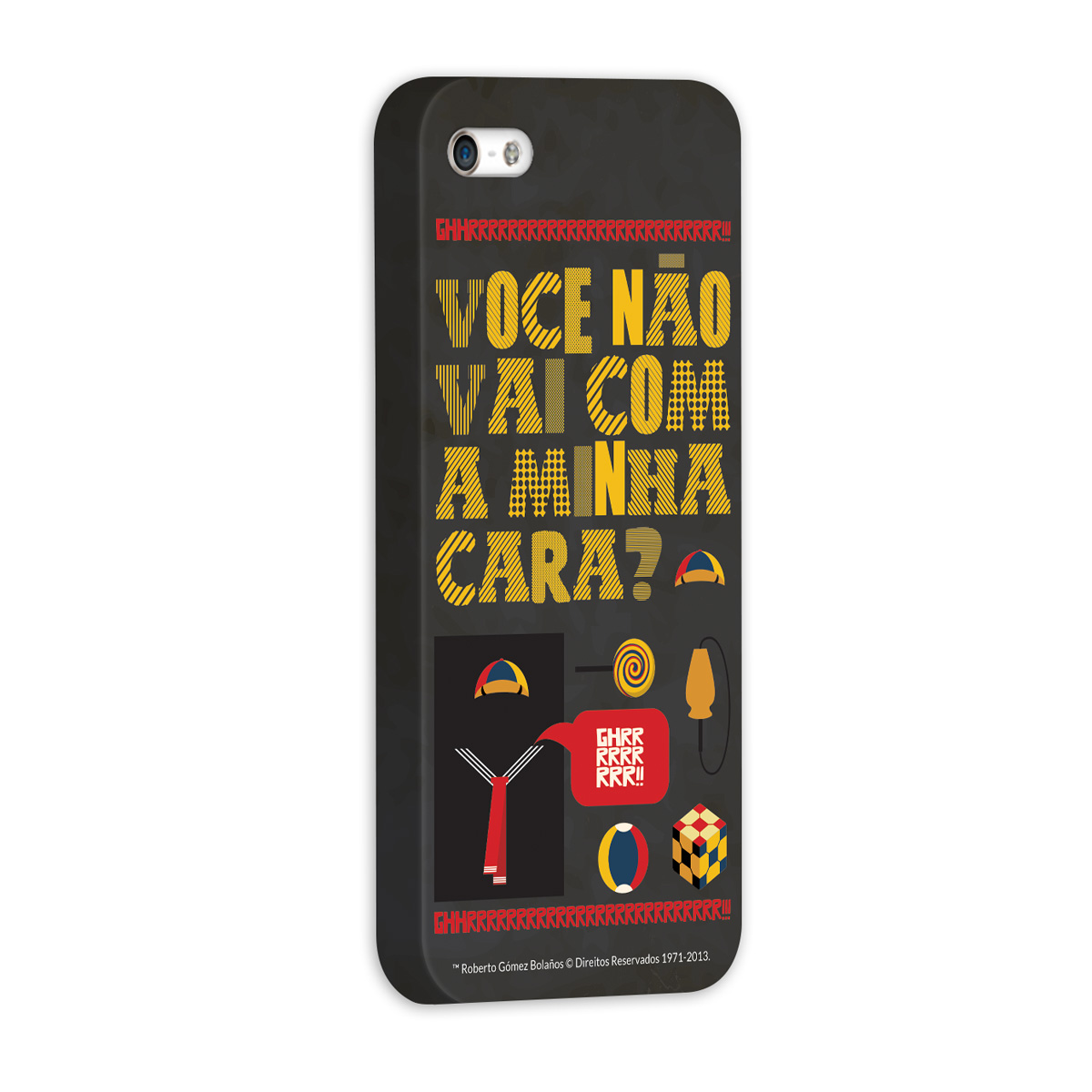 Capa de iPhone 5/5S Chaves Ícones Quico Vintage