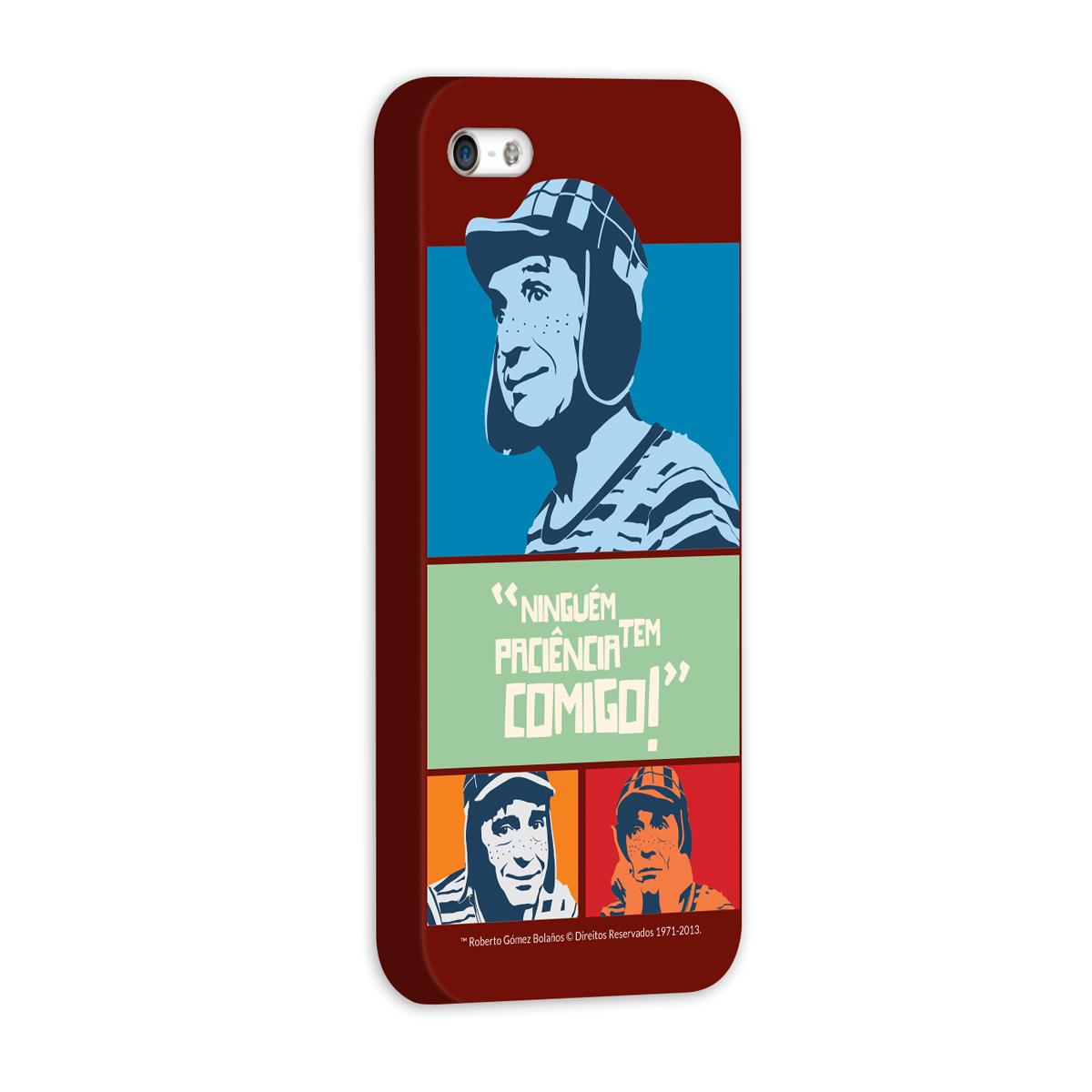 Capa de iPhone 5/5S Chaves Ninguém Tem Paciência Comigo! Vintage