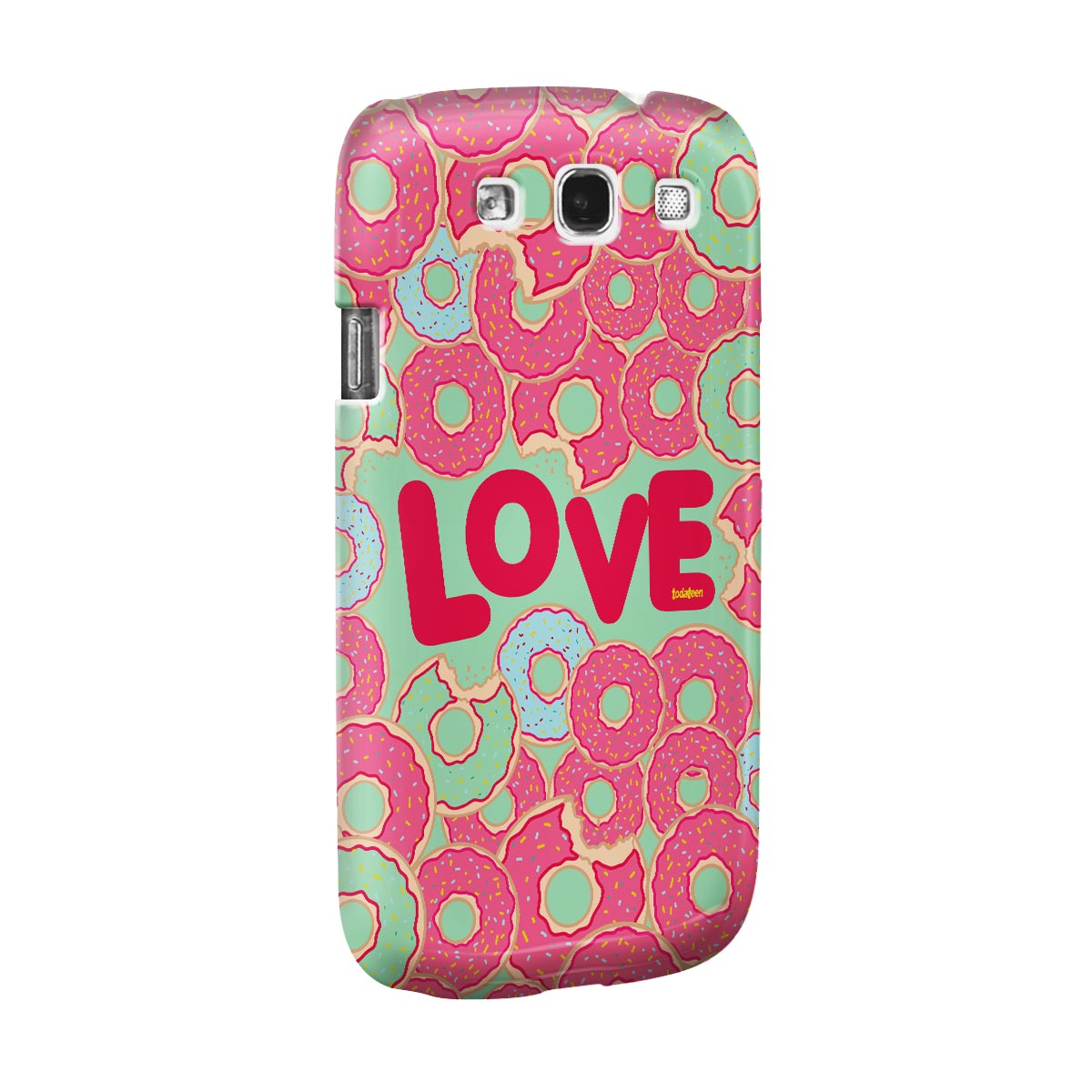 Capa para Galaxy S3 TodaTeen Love Donuts!