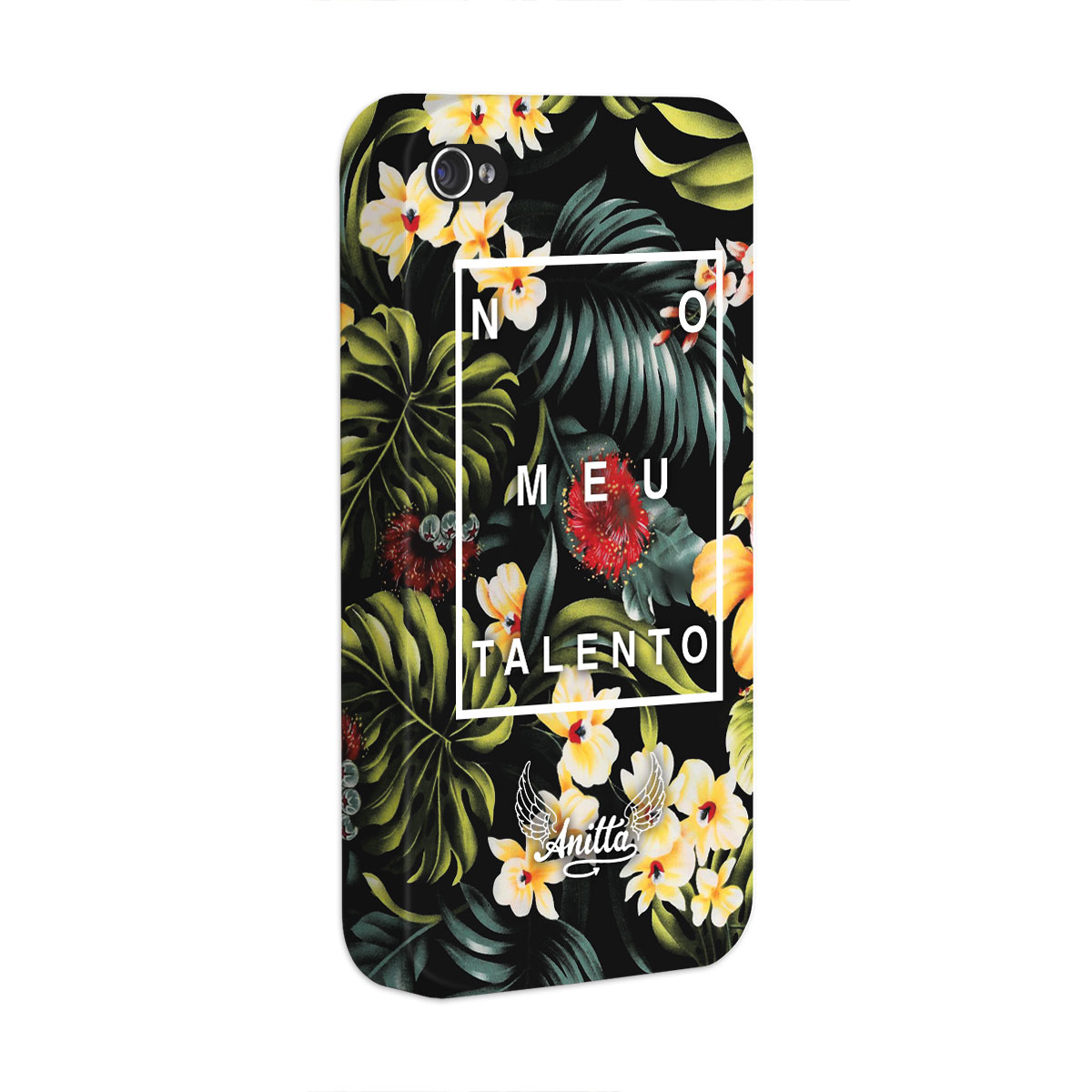 Capa para iPhone 4/4S Anitta No Meu Talento Flowers