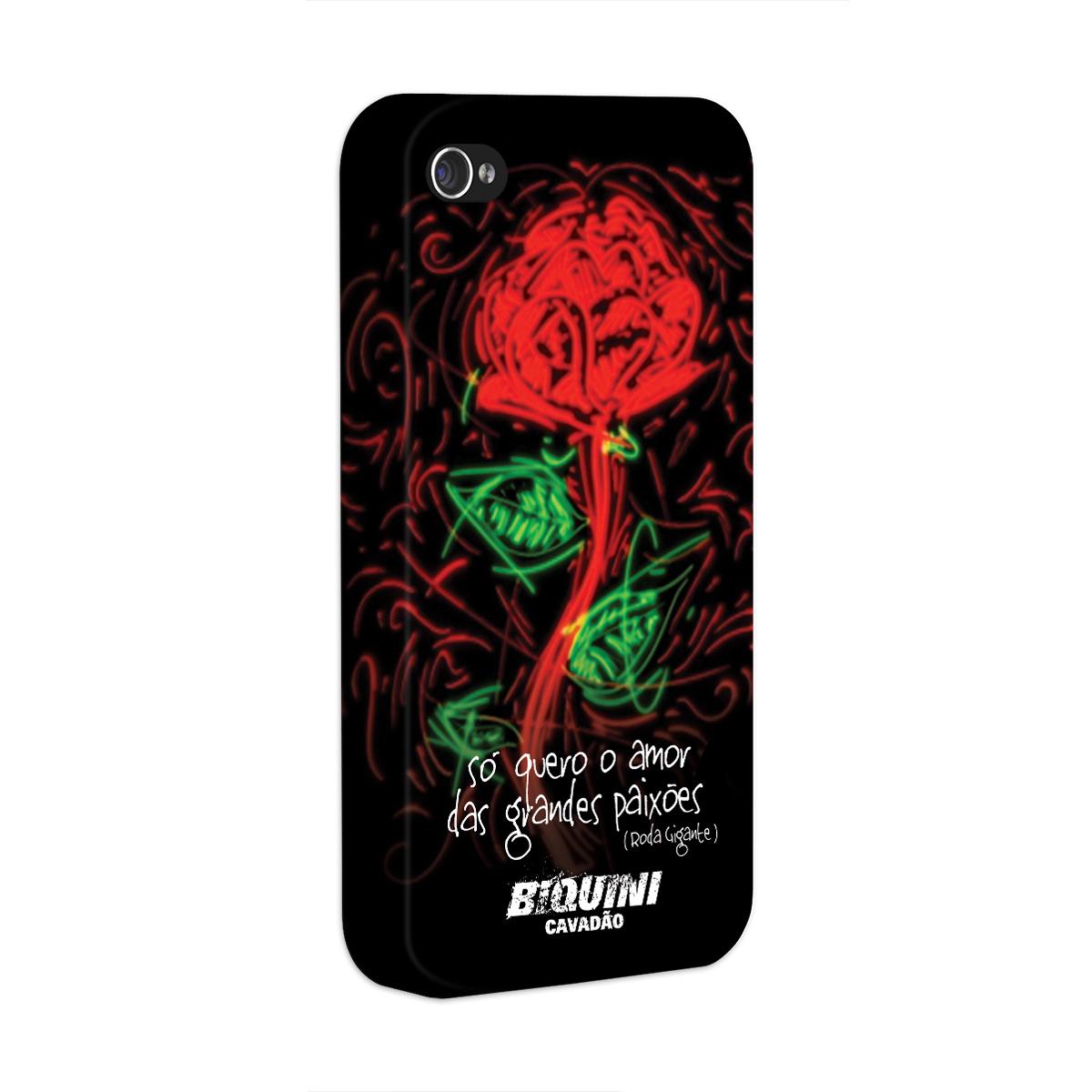 Capa para iPhone 4/4S Biquini Cavadão Só Quero o Amor das Grandes Paixões
