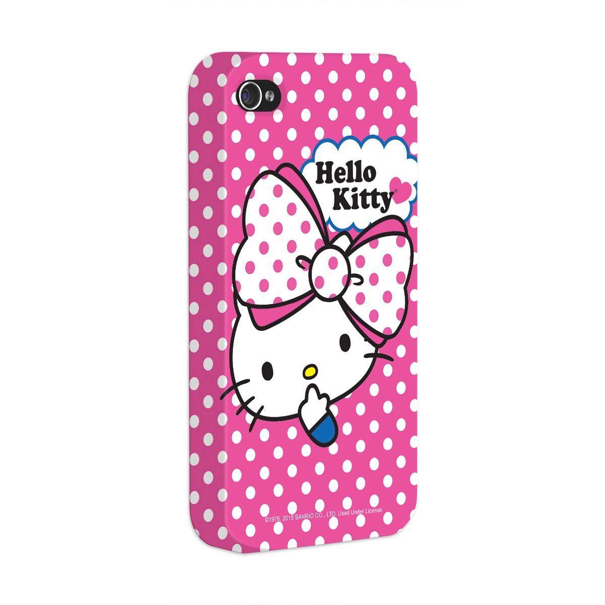 Capa para iPhone 4/4S Hello Kitty Big Ribbon