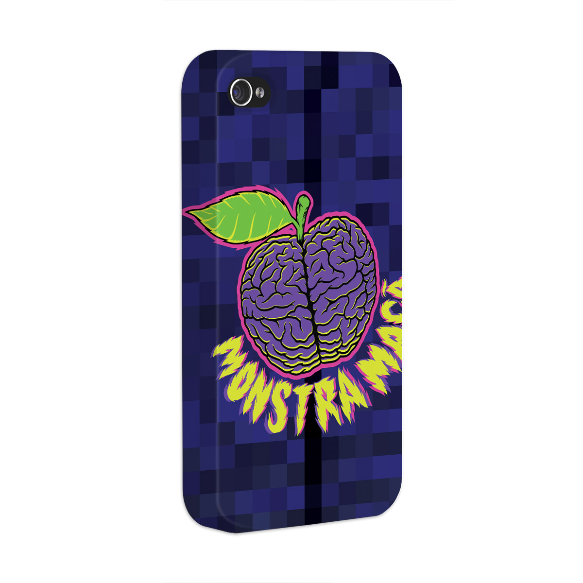 Capa para iPhone 4/4S Monstra Maçã Brains