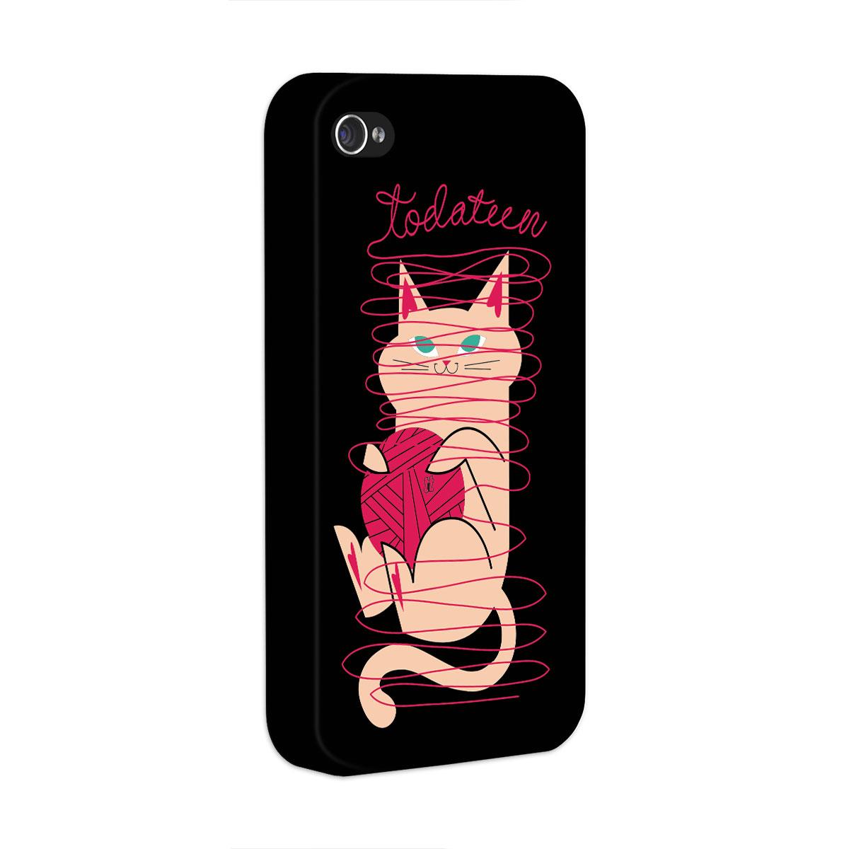 Capa para iPhone 4/4S TodaTeen Cat