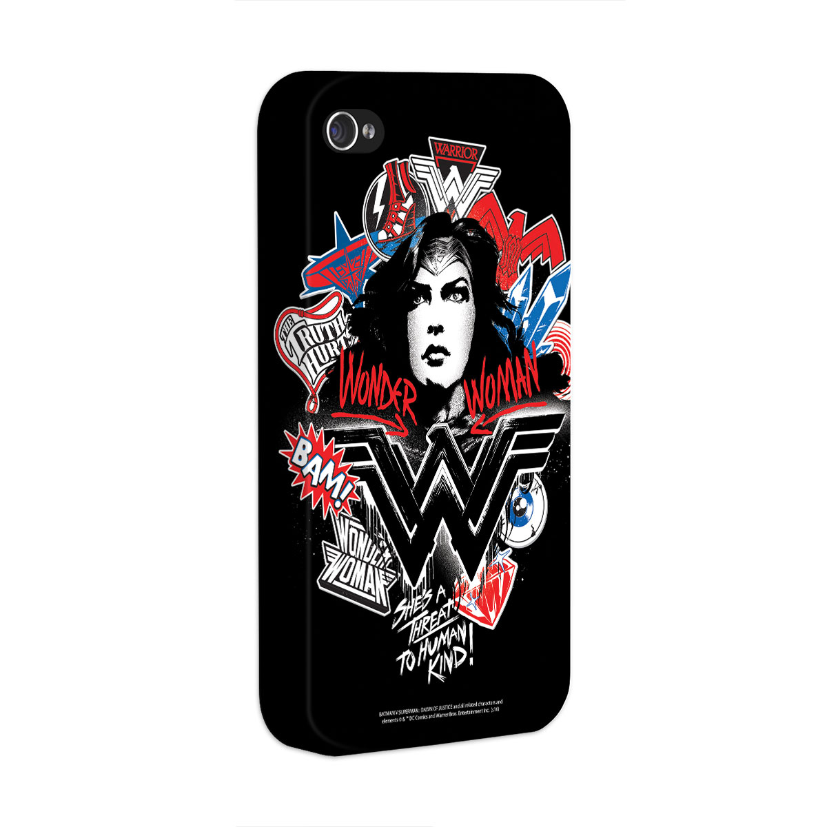 Capa para iPhone 4/4S Wonder Woman She´s a Threat