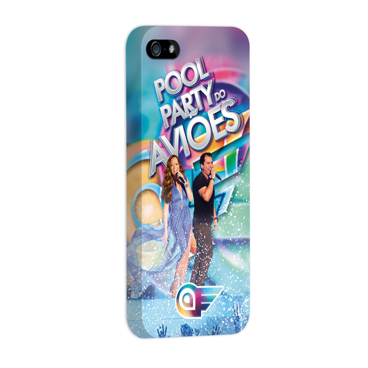 Capa para iPhone 5/5S Aviões do Forró Capa Pool Party