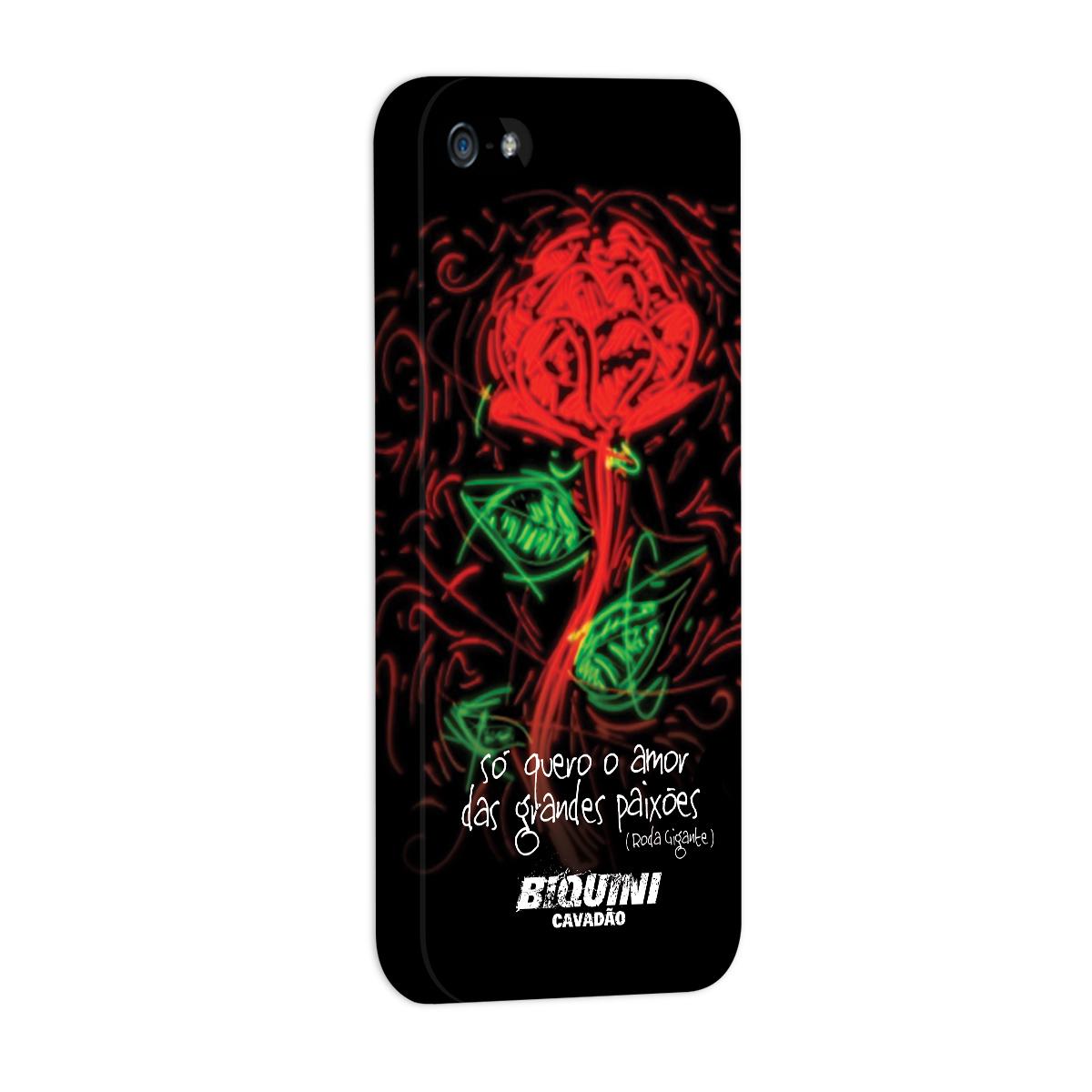 Capa para iPhone 5/5S Biquini Cavadão Só Quero o Amor das Grandes Paixões