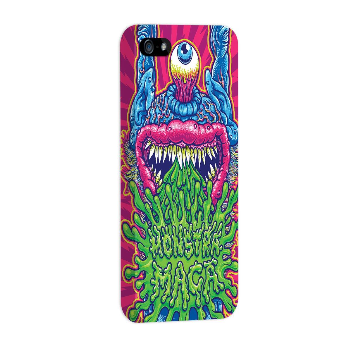 Capa para iPhone 5/5S Monstra Maçã Puke