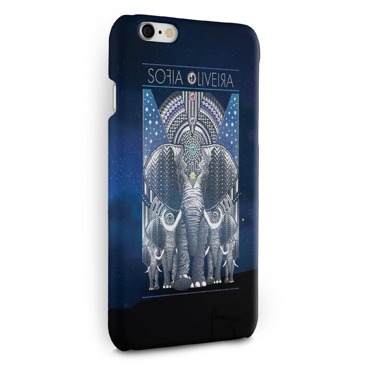 Capa para iPhone 6/6S Plus Sofia Oliveira Elephant