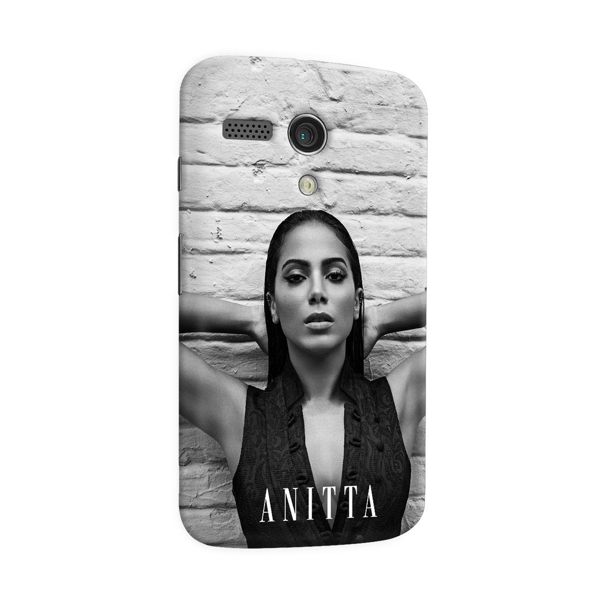 Capa para Motorola Moto G 1 Anitta P&B