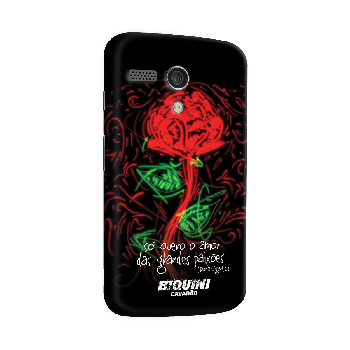 Capa para Motorola Moto G 1 Biquini Cavadão Só Quero o Amor das Grandes Paixões