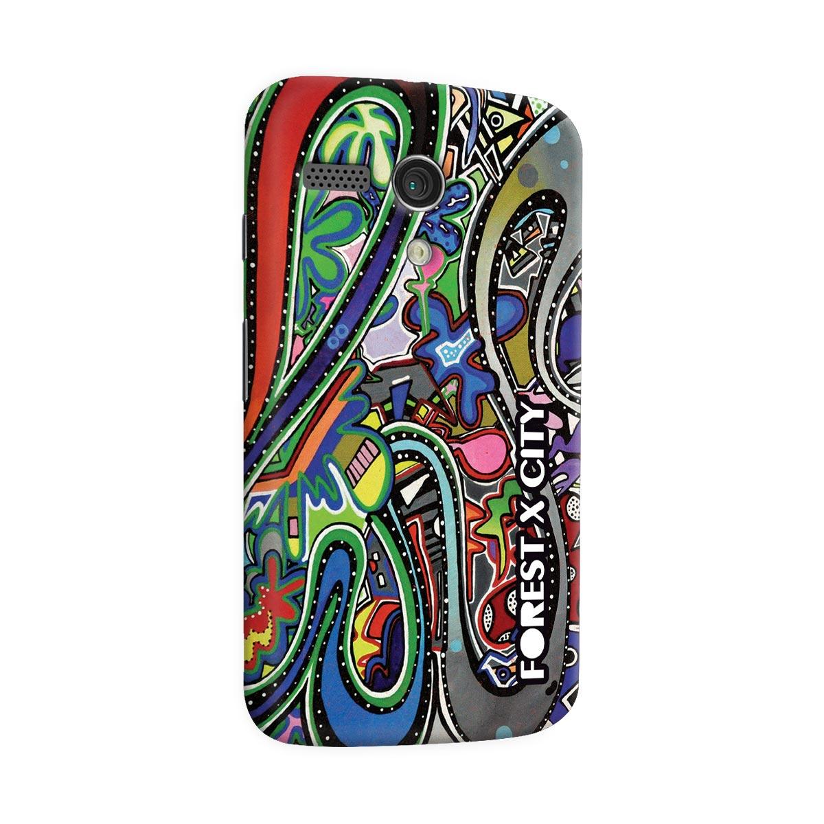 Capa para Motorola Moto G 1 Bruna Forest x City