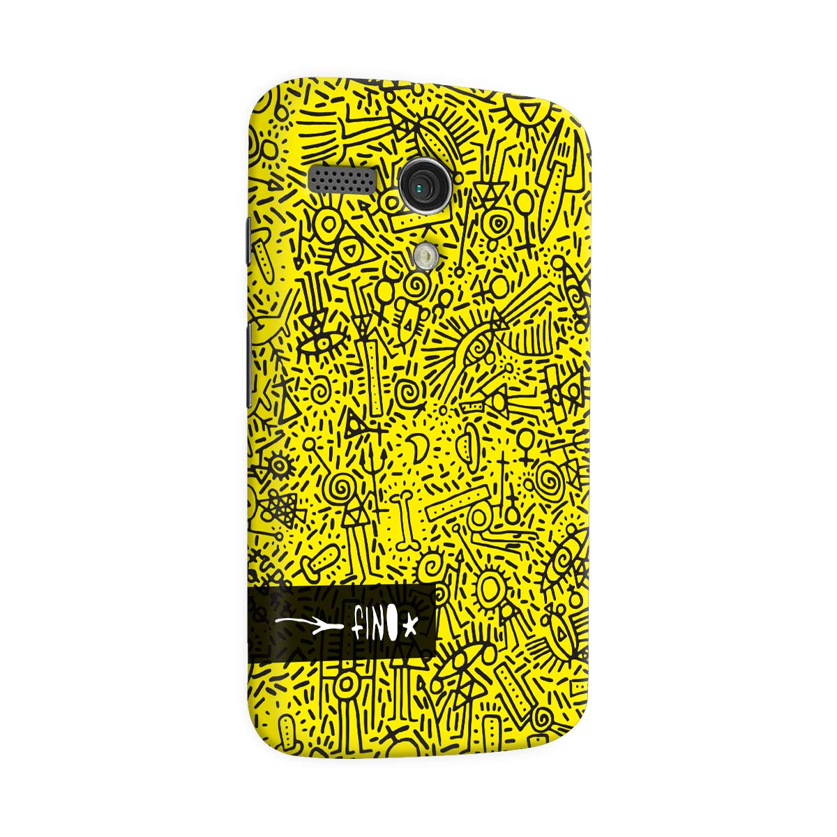 Capa para Motorola Moto G 1 Fino Farofa de Religião Yellow