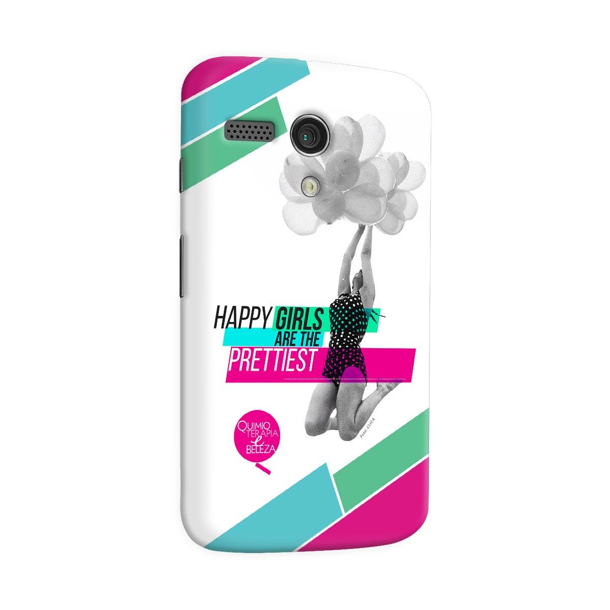 Capa para Motorola Moto G 1 QeB Happy Girls