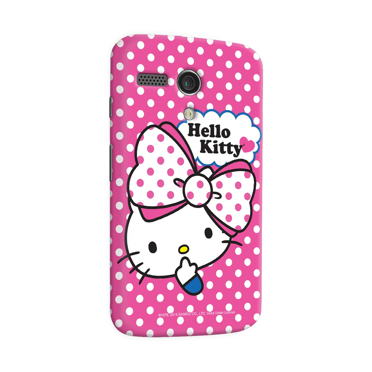 Capa para Motorola Moto G 1 Hello Kitty Big Ribbon