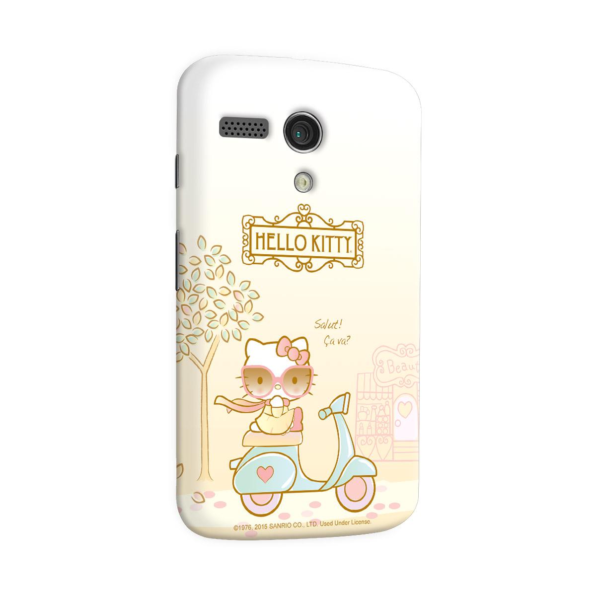 Capa para Motorola Moto G 1 Hello Kitty Salut! Ça Va?