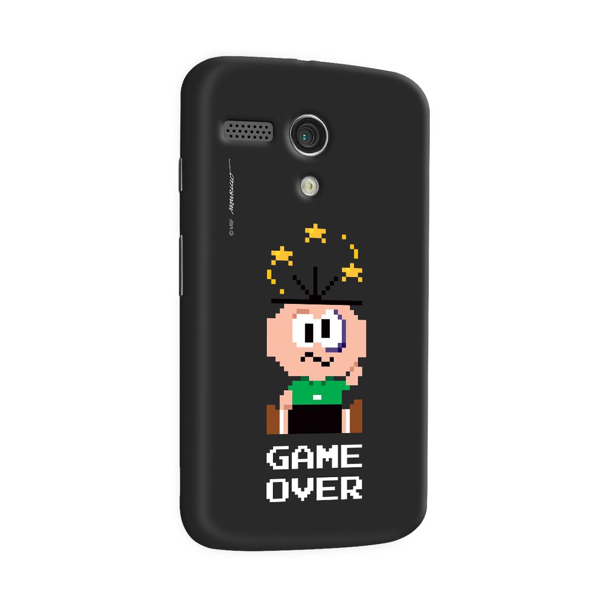 Capa para Motorola Moto G 1 Turma da Mônica Cebolinha Game Over