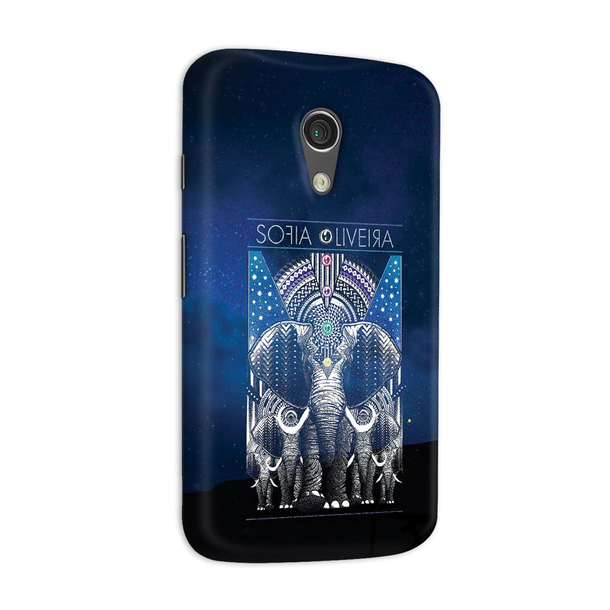 Capa para Motorola Moto G 2 Sofia Oliveira Elephant