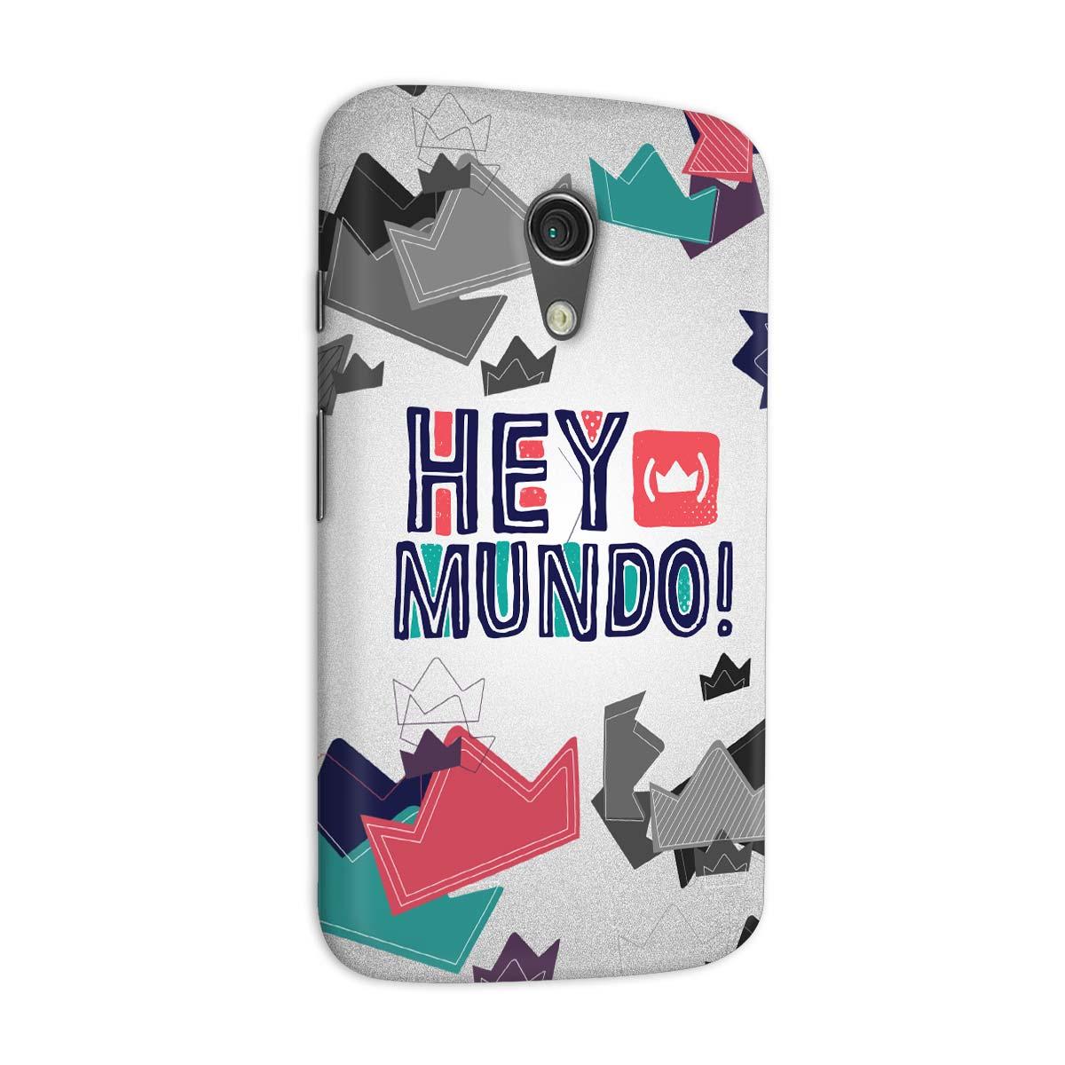 Capa para Motorola Moto G 2 Thiaguinho Hey Mundo! Logo