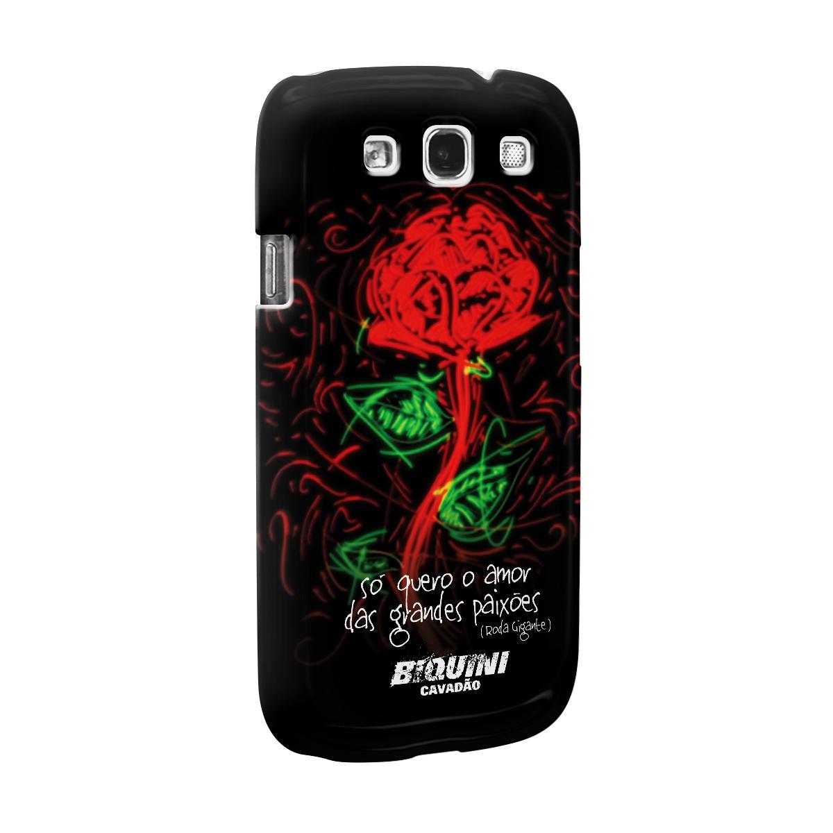 Capa para Samsung Galaxy S3 Biquini Cavadão Só Quero o Amor das Grandes Paixões