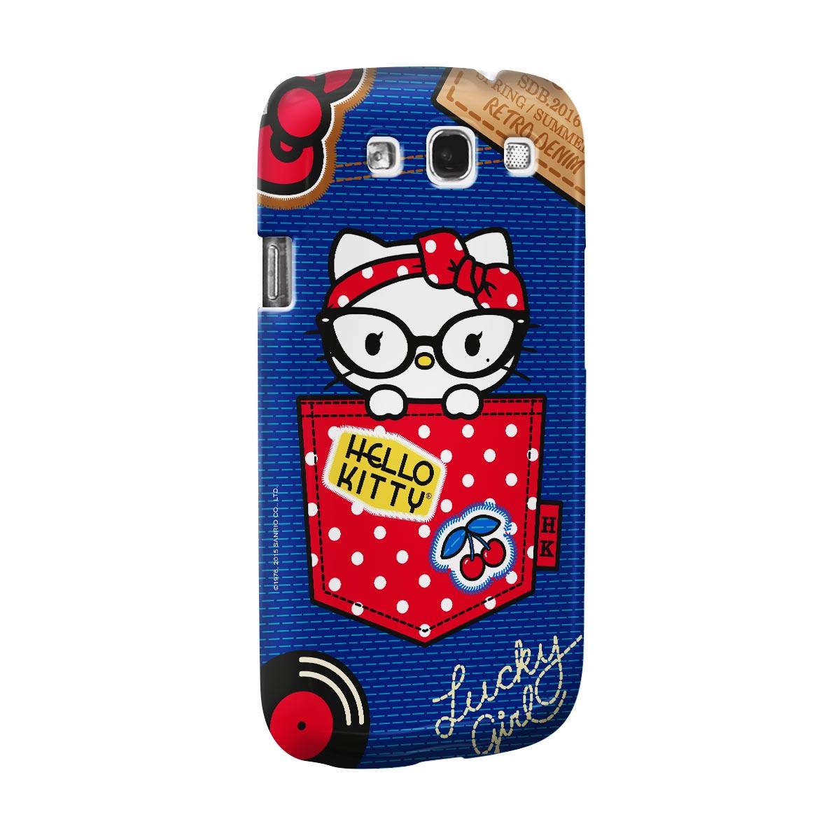 Capa para Samsung Galaxy S3 Hello Kitty Retro Denim