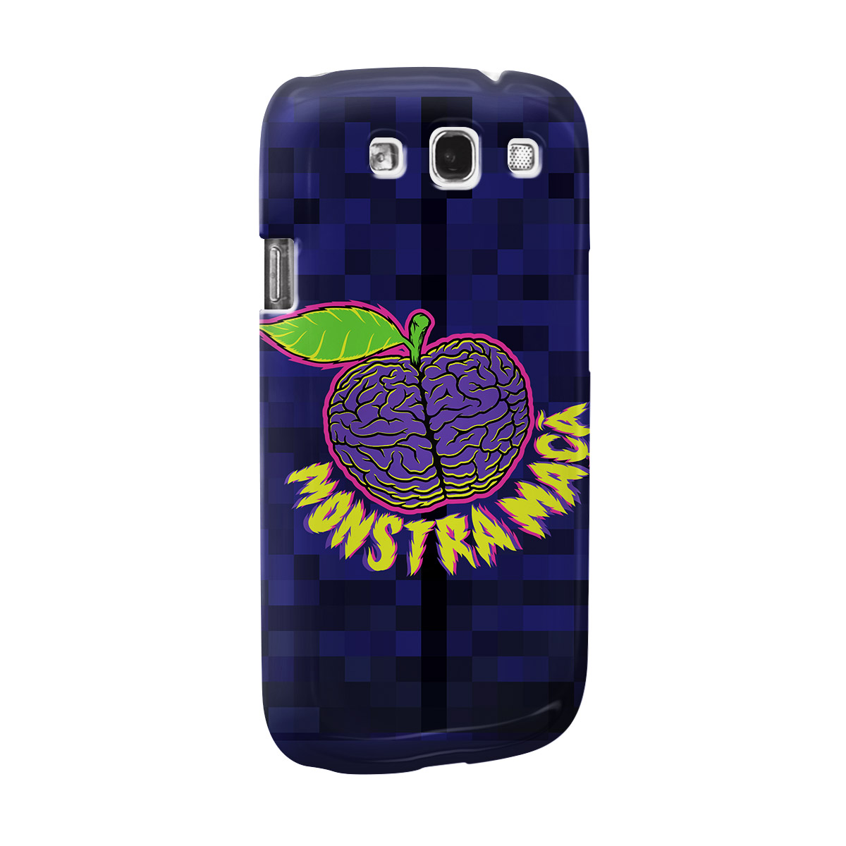 Capa para Samsung Galaxy S3 Monstra Maçã Brains