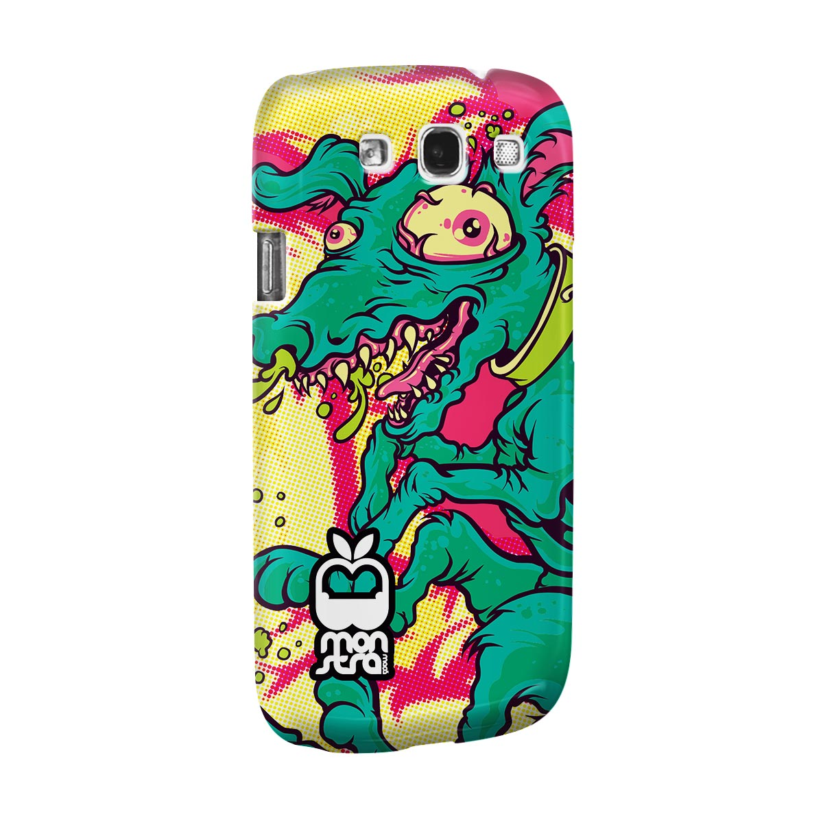 Capa para Samsung Galaxy S3 Monstra Maçã Crazy Dog